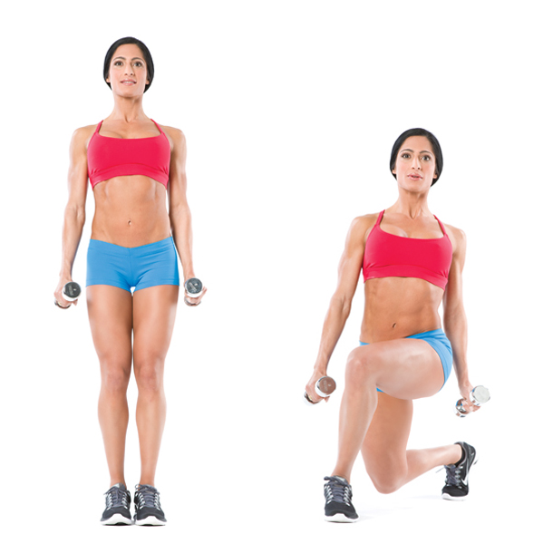 dumbbell-curtsy-lunge